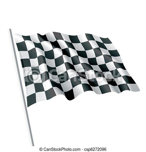 Bandera a cuadros - csp6272096