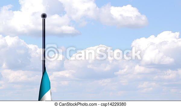Bandera Animado Argentina Nubes Fondo Bandera Hoisted