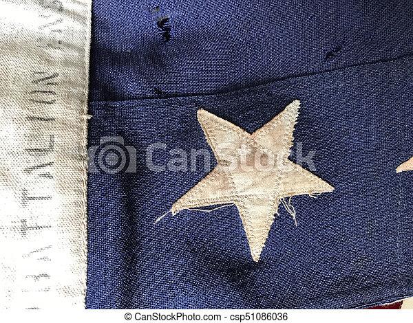 bandera, batalion, szczegół, usa - csp51086036