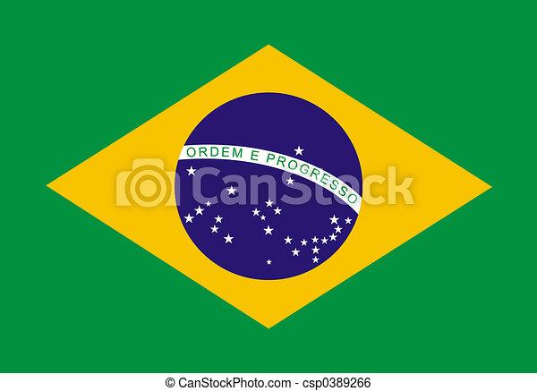 Bandera brasileña - csp0389266