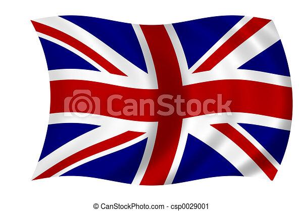bandera, británico - csp0029001