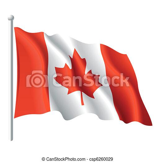 Bandera de Canadá - csp6260029