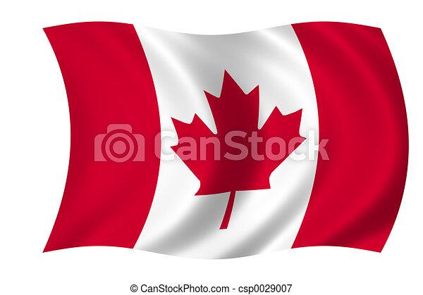 La bandera de Canadá - csp0029007