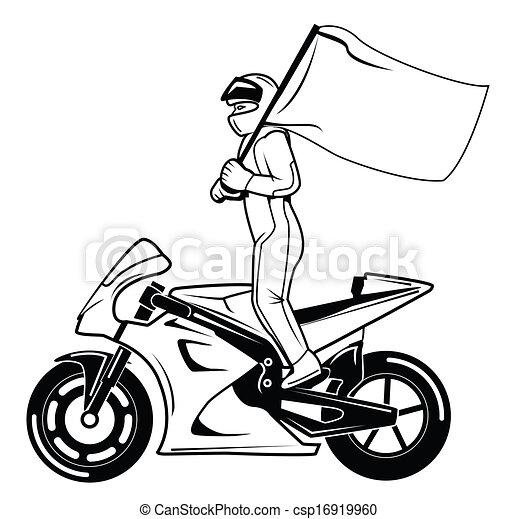Bandera Carrera Moto