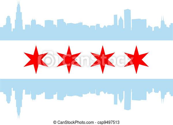 Bandera de Chicago - csp9497513