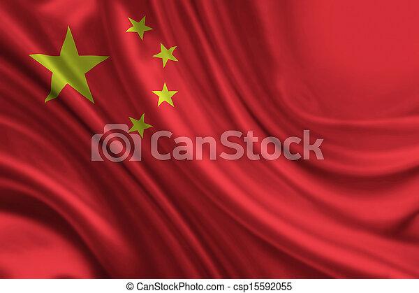 Bandera china - csp15592055