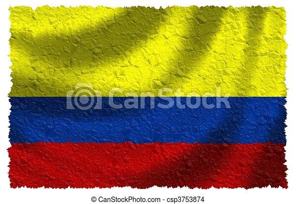 Bandera de Colombia - csp3753874