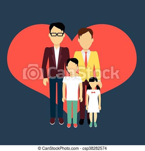 Familia homosexual concepto