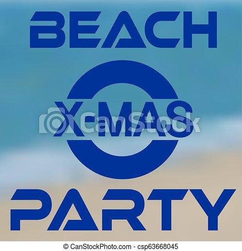 Fiesta de Navidad en la playa con costa - csp63668045