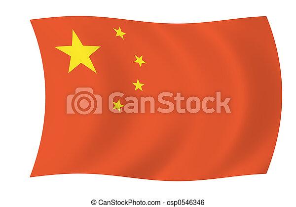 China - bandera china - csp0546346