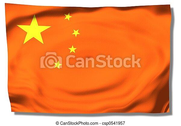 La bandera china - csp0541957
