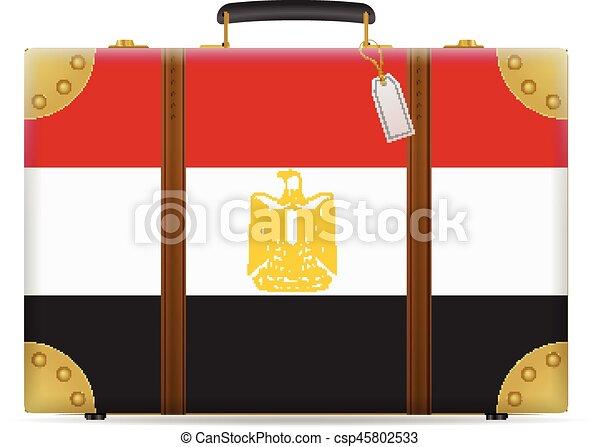 fe74e1fa2 Bandera de egypt, viaje, maleta. Egipto, viaje, fondo., bandera ...