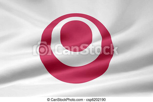 bandera de japón, -, okinawa - csp6202190