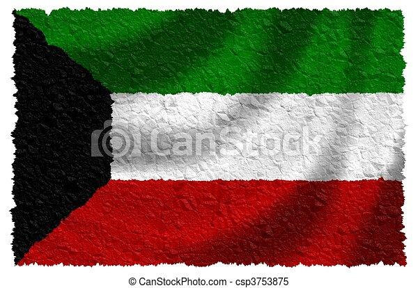 Bandera de kuwait - csp3753875