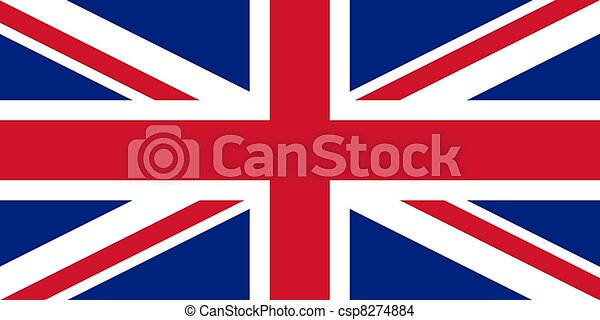 bandera de Union Jack UK - csp8274884
