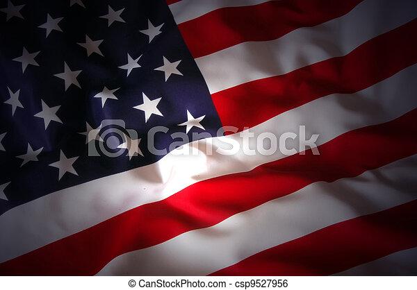 La bandera de EEUU - csp9527956