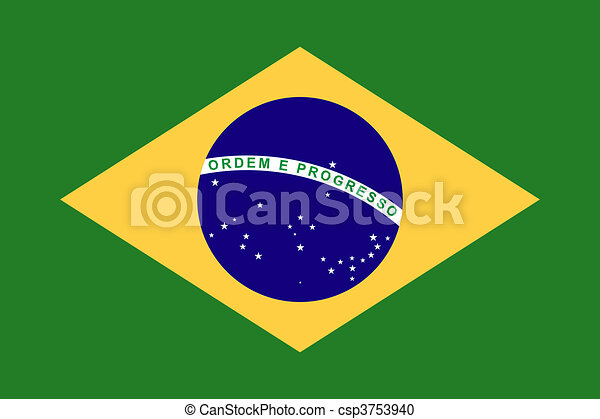 Bandera de brazil - csp3753940