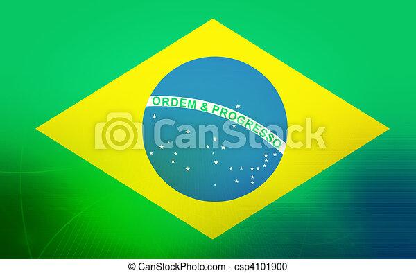 Bandera de Brasil - csp4101900
