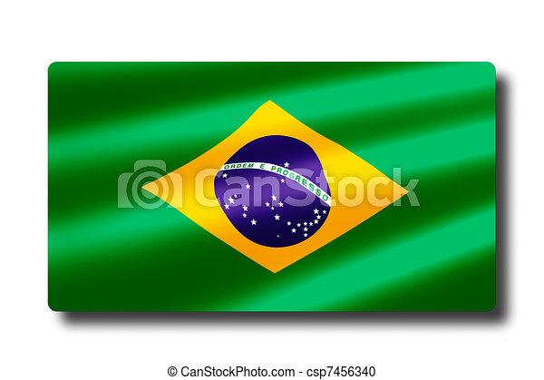 Bandera de Brasil - csp7456340