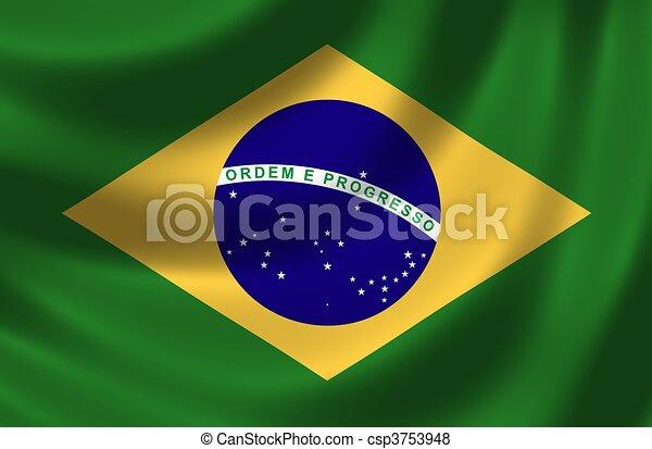 Bandera de Brasil - csp3753948