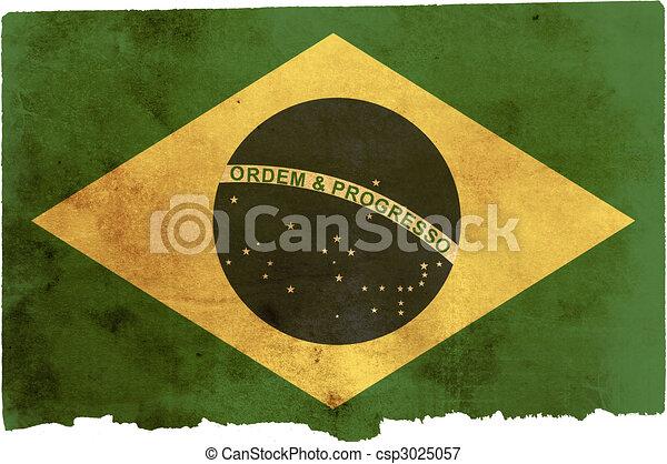 Bandera de Brasil - csp3025057