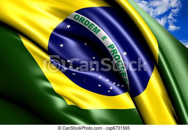 Bandera de Brasil - csp6731565