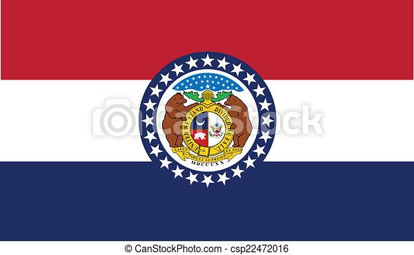 La bandera del estado de Missouri - csp22472016
