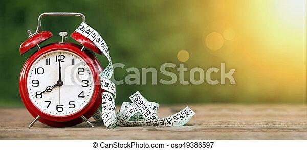 Pancarta de tiempo de dieta - csp49386597