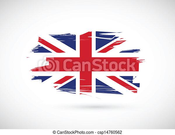 Diseño de ilustración de la bandera británica - csp14760562