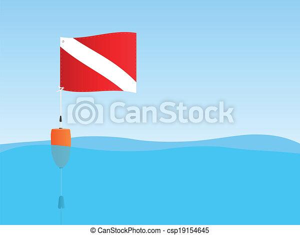 Bandera flotante - csp19154645