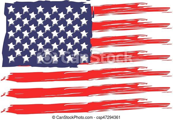 Bandera Estados Unidos De América