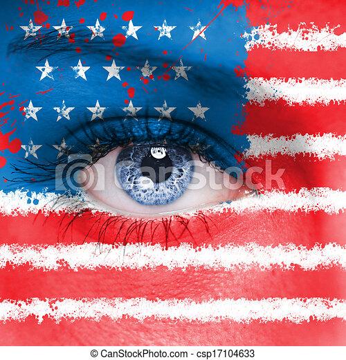 bandera, estados unidos de américa - csp17104633