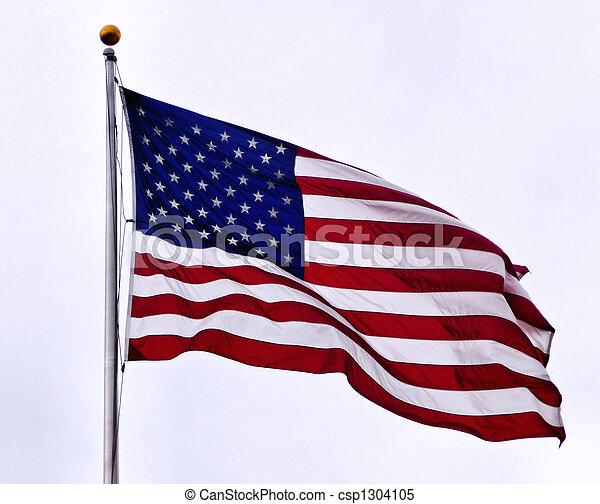 bandera estadounidense - csp1304105