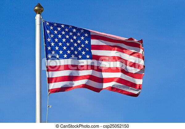 Bandera americana - csp25052150