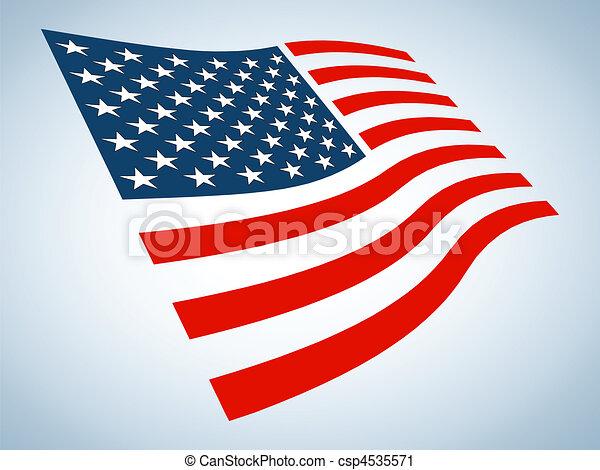 La bandera americana - csp4535571