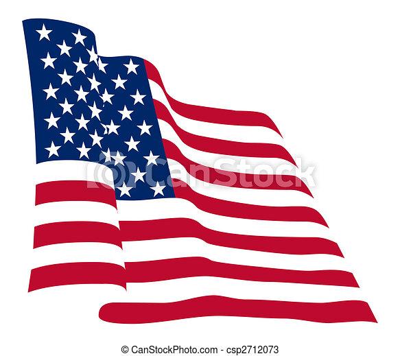 La bandera americana - csp2712073