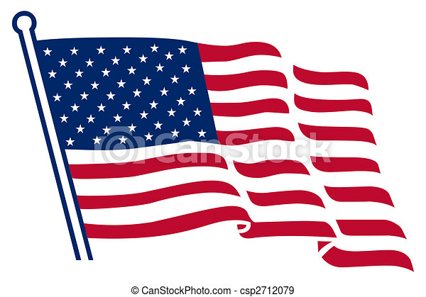 La bandera americana - csp2712079