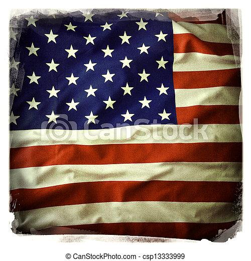 bandera estadounidense - csp13333999