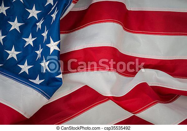bandera estadounidense - csp35535492