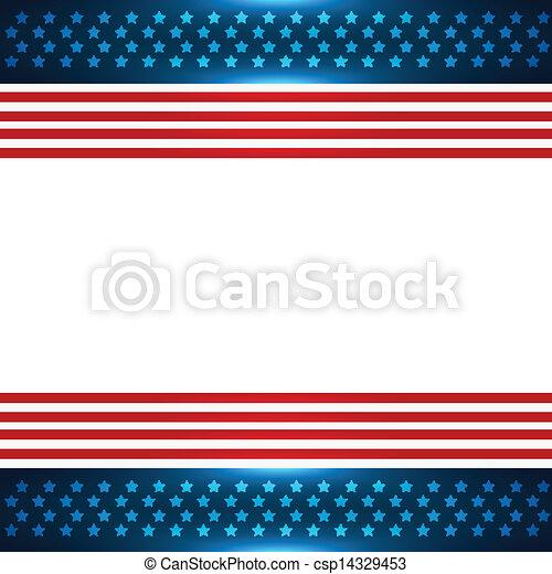 bandera estadounidense, plano de fondo - csp14329453
