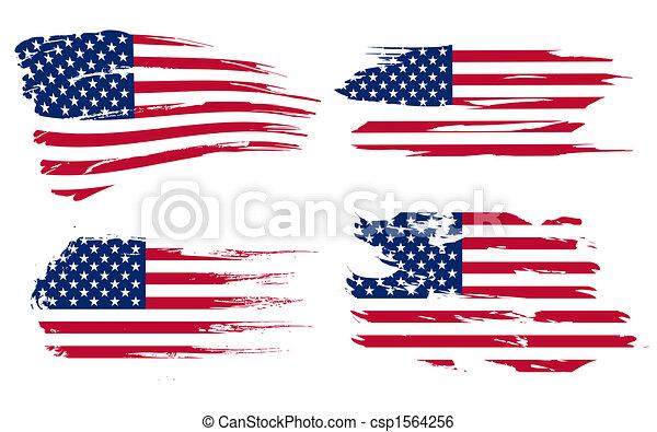 Historia de la bandera americana - csp1564256