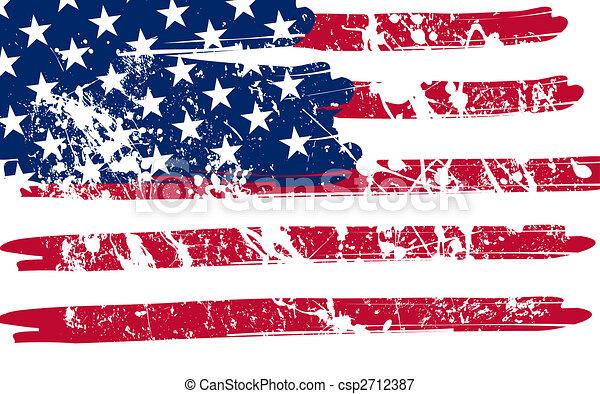 Historia de la bandera americana - csp2712387