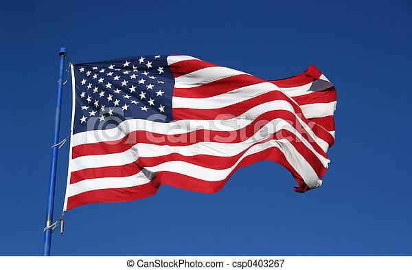 bandera estadounidense - csp0403267