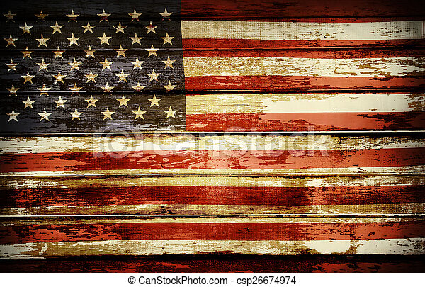Bandera americana - csp26674974