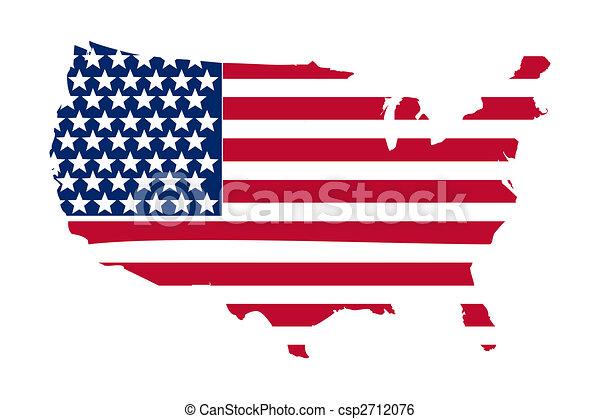 La bandera americana - csp2712076