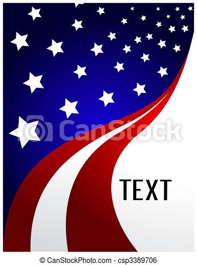 La bandera americana - csp3389706