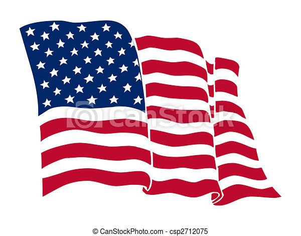 La bandera americana - csp2712075