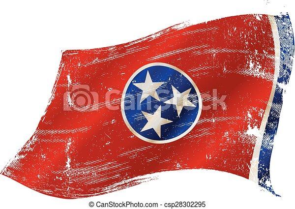 La bandera grunge de Tennessee - csp28302295