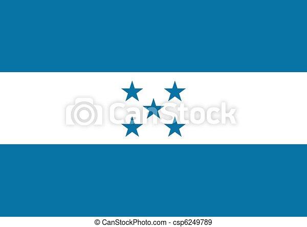 bandera, honduras - csp6249789