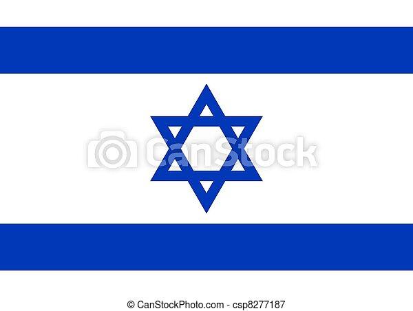 Bandera de Israel - csp8277187